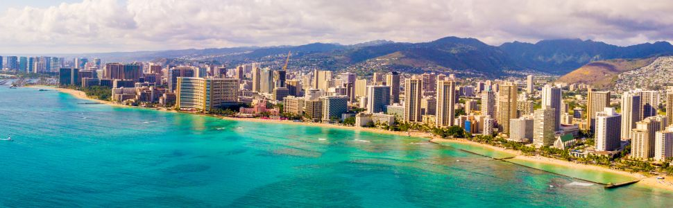 Immagine di città slider anno all'estero di Honolulu